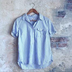 J. Crew striped collared shirt